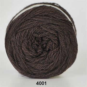 Organic 350 wool/cotton fv. 4001 brun