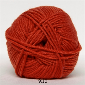 Hjertegarn Ekstrafine Merino 120 fv. 9110 orange