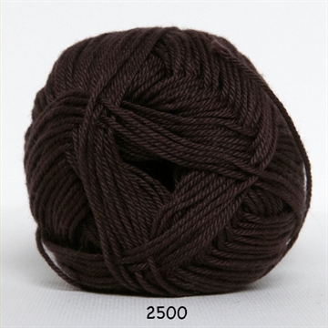 Hjertegarn Diamond cotton fv. 2500 mørk brun