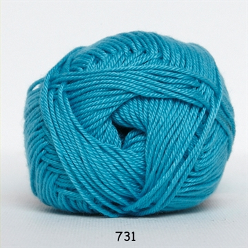 Hjertegarn Diamond cotton fv. 731 turkis