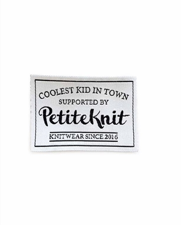 "PetiteKnit label ""Coolest Kid in Town"""
