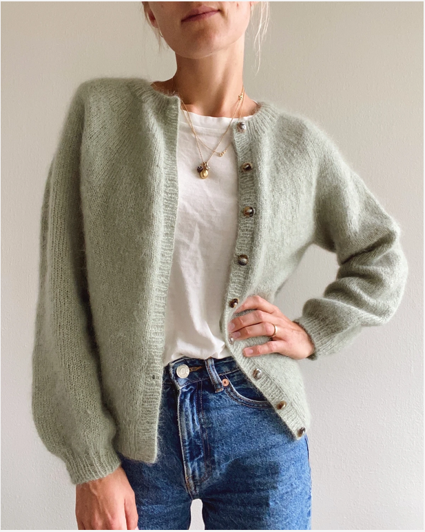 PetiteKnit Novice Cardigan - Mohair Edition