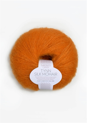 Tynd silk mohair fv. 2727 orange
